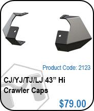 TJ/YJ/CJ/LJ 43 Hi Crawler Caps
