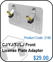 TJ/LJ/CJ/YJ Front License Plate Adapter