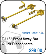 TJ 13in Front Sway Bar Link Kit