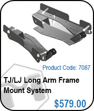 TJ/LJ Long Arm Frame Mount System