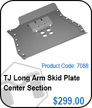 TJ Long Arm Skid Plate