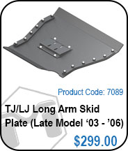 TJ/LJ Long Arm Skid Plate