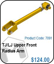 TJ/LJ Upper Front Radius Control Arms