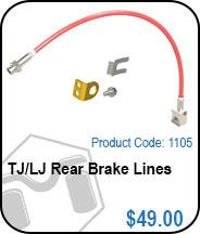 TJ Rear Brake Lines