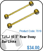 TJ 10.5in Rear Sway Bar Links