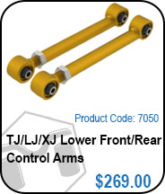 TJ Lower Front or Rear Control Arms