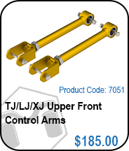 TJ Upper Front Control Arms
