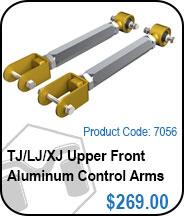 TJ Upper Front Aluminum Control Arms