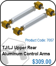 TJ Upper Rear Aluminum Control Arms