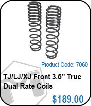 TJ Front 3.5in True Dual Rate Coils