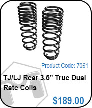TJ Rear 3.5in True Dual Rate Coils