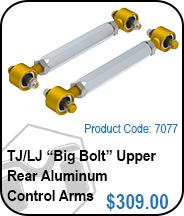 TJ Upper Rear Aluminum Control Arms