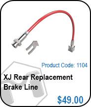 XJ Rear Brake Lines