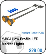 CJ Low Profile LED Marker Lights