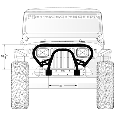 YJ Grill Guard front