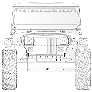 YJ Hi-Mount Shackles front
