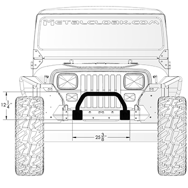 YJ Winch Guard front