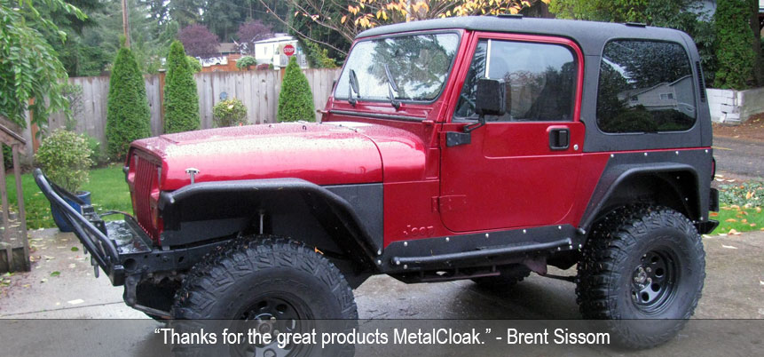 MetalCloak Arched YJ Fenders
