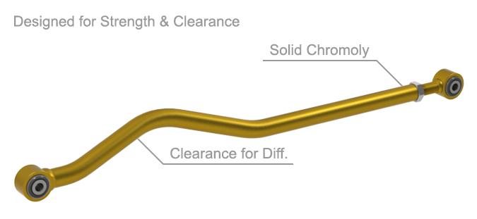JK Wrangler Hi Clearance Front Track Bar