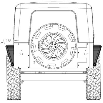 Jeep Rear Tube Fender
