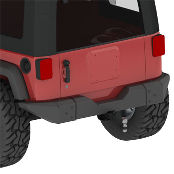 MetalCloak Rear Tire Carrier